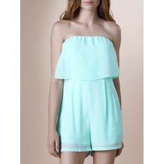 15.06$  Buy now - http://diueq.justgood.pw/go.php?t=180819819 - Trendy Strapless Pure Color Romper For Women 15.06$