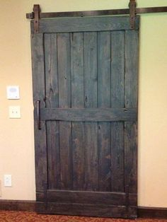 All custom made sliding barn doors for a vintage or modern look for your home. These are interior doors that are trendy and give your home a personalized vintage look. We can customize the color or stain and also the pattern to your liking. Made to order whatever size you might want and is done in 4-6 weeks. Well usually sooner then that but just to be safe. (Pictures are ALL doors we have made!) We were featured on HGTV renovation of The Most Embarassing Rooms in America that aired in…