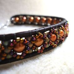 Dressy Leather Bracelet at | JewelryLessons.com