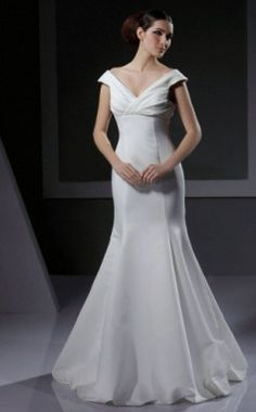 light in the box off the shoulder wedding dress