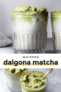 Enjoy this super easy dalgona matcha warm or cold for a green tea marshmallow-esk drink you'll fall in love with! Paleo, vegan and low carb variations! Sugar Free Recipes, Low Carb Recipes, Lunch Recipes, Healthy Recipes, Cappuccino Recipe, Easy Kid Friendly Dinners, Low Carb Milk, Matcha Drink, Keto Drink