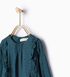 Frill shirt-Shirts-Baby girl-Baby | 3 months - 3 years-KIDS | ZARA United States