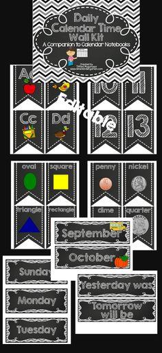 Calendar kit for the calendar wall.  Turn your calendar time into an interactive time.