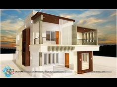 Modern Architecture Perspective art & architecture | design #2 - drawing a modern house (1-point
