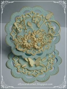 by - Cards and Paper Crafts at Splitcoaststampers Step Cards, Diy Cards, Handmade Cards, Fancy Fold Cards, Folded Cards, Marianne Design Cards, Spellbinders Cards, Shaped Cards, Scrapbook Cards