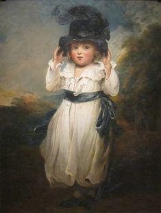 John Hoppner - The Hon.Alicia Herbert as A Child. Oil on canvas circa 1795
