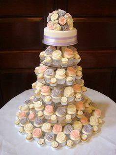 very sweet wedding cupcake tower