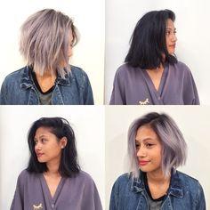 See the steps on snapchat @mizzchoi  #grey #greyhair #hair #haircolor #color by #mizzchoi cut and style @salsalhair @ramireztransalon #ramireztran #ramireztransalon