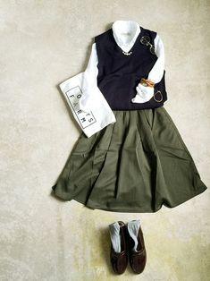 ナチュラル服のイタフラ さんのスカート「italie to france 」を使ったコーディネート