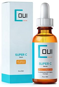 On Sale for only $18.47 until 08/10/14 - Super C - A Revolutionary Anti Aging Skin Care for Face With: Epidermal Growth Factor , Vitamin C , Marine Kelp , Collagen Peptides , Hyaluronic Acid and More - Rich in Antioxidants - Eliminates Wrinkles and Acne Scars - Great for Sensitive and Damaged Skin - Best Collagen Synthesis Formula - Far More Than Your Regular Vitamin C Serum COUI Skincare http://www.amazon.com/dp/B00JFT2Z14/ref=cm_sw_r_pi_dp_uOc2tb0MPXX0F0JC