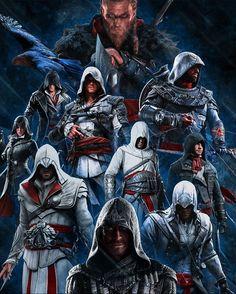Assassins Creed Quotes, All Assassins, Assassins Creed Funny, Assassins Creed Odyssey, Assassin's Creed Wallpaper, Marvel Wallpaper, All Assassin's Creed Characters, Assasians Creed, Assassin's Creed Black