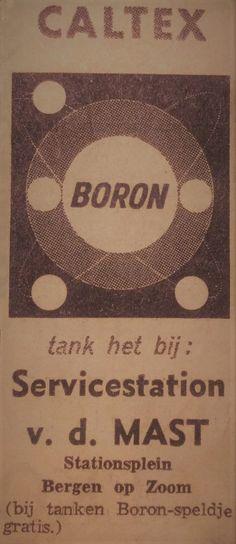 Caltex Boron reclame en als je kwam tanken een Caltex Boron Speldje