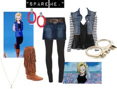 """Dragon Ball Z- Android 18"" by missstevierae on Polyvore"