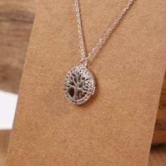 Tree of Life Necklace: Amazing collection of high-quality fashionable women's necklaces from established UK retailer. #jewellery #jewelry #pendant #etsy #silver #925 #boho #fashion #gifts #treeoflife #crystal #cubic #sterling #preciousmetals #necklace #sterlingsilver #chain #birthstone #handmade