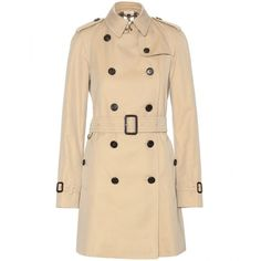 Burberry London The Westminster Trench Coat (2,510 CAD) ❤ liked on Polyvore featuring outerwear, coats, beige, burberry, beige trench coat, burberry trenchcoat, trench coat ve beige coat