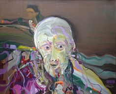 "Arto Der Haroutunian 'Old Man' 24"" x 20"" Acrylic on Board"