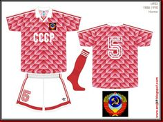 USSR home kit for the 1988 European Championship.