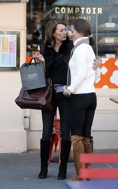 Carol and Pippa Middleton