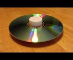 How to make CD Spinning Tops