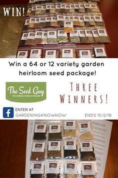 [FB] The Seed Guy nonGMO Heirloom Seed Package Giveaway {US}... sweepstakes IFTTT reddit giveaways freebies contests