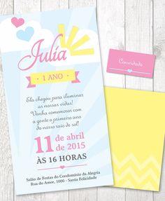 Convite Arquivo PDF - You are my Sunshine