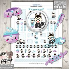Dog Stickers, Planner Stickers for your Erin Condren Vertical Planner, Filofax, KikkiK, any day plan