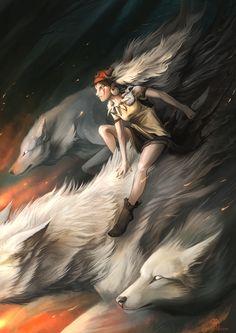 Princess Mononoke by AlectorFencer.deviantart.com on @deviantART