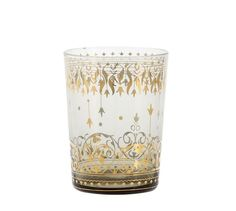 Moroccan Double Old-Fashioned Glass, Set Of 4 - Gray