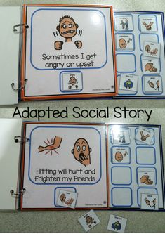 Social Story Adapted book - No Hitting reminds students what their hands should be used for, and what they can do to calm down. I've added visuals to reinforce behaviours and make the book more interactive, ideal in our calm down corner, independent work areas or even on a one to one session.