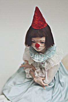 Items similar to JooDella porcelain ooak bjd art doll RESERVED on Etsy Porcelain Dolls For Sale, Porcelain Dolls Value, Fine Porcelain, Porcelain Tiles, Porcelain Countertops, Art Du Cirque, Mime, Origami, Pierrot Clown