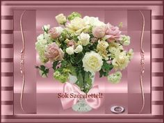Sok szeretettek névnapodra Floral Wreath, Wreaths, Home Decor, Room Decor, Garlands, Home Interior Design, Decoration Home, Floral Arrangements, Flower Garlands