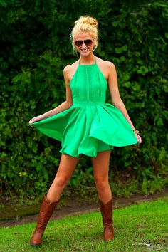 Dress-Kelly Green