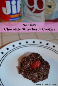 No Bake Chocolate Strawberry Cookies www.PlexusSlim.com/BeckyFarley