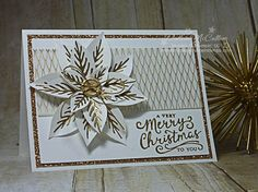 Gold Poinsettia by darhm - Cards and Paper Crafts at Splitcoaststampers