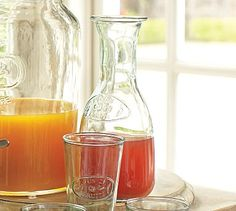 Yes but I'd need a stopper! Jus de Fruits Carafe #potterybarn