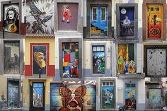 Art Project Open Doors in Funchal by kartix, via Flickr Madeira Island, Portugal