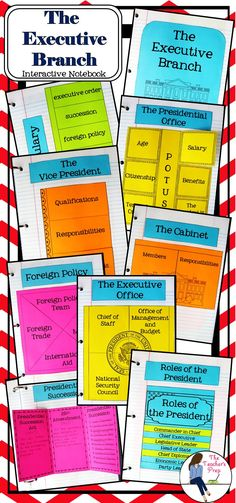 The Executive Branch Interactive Notebook includes 8 different interactive activities to help students organize information and an answer key to use as a guide for each graphic organizer! Social Studies Lesson Plans, 5th Grade Social Studies, Social Studies Classroom, History Classroom, Teaching Social Studies, Teaching History, Interactive Activities, Teaching Activities, Interactive Notebooks