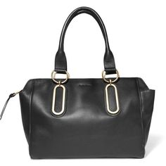 See by Chloé - East-west Leather Shoulder Bag (736.920 COP) ❤ liked on Polyvore featuring bags, handbags, shoulder bags, black, zip purse, genuine leather purse, genuine leather handbags, leather purses and leather handbags