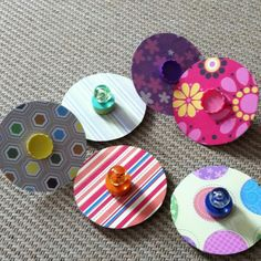 Old CD's turned into a child's spinning top