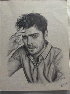 zac efron drawing retratos dibujando draw por drawings pencil