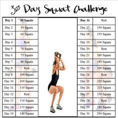 30 Day Squat Challenge ECA World Fitness Event 2016