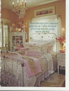 Bob & Cindy Ellis's lovely home featured in Romantic country magazine.