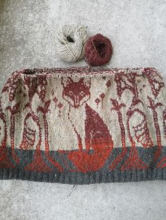 Ravelry: Foxy pattern by Wollmuschi Fair Isle Knitting Patterns, Knitting Stitches, Knitting Designs, Knit Patterns, Free Knitting, Knitting Projects, Knitting Ideas, How To Purl Knit, Textiles