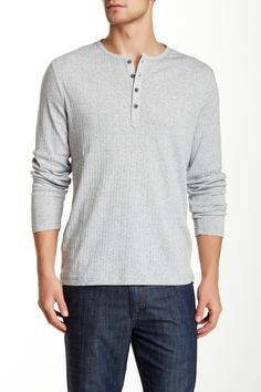 Perry Ellis | Rib Knit Henley | Nordstrom Rack