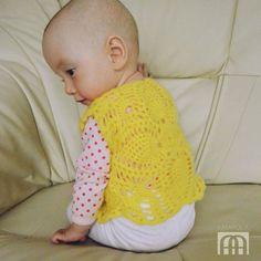 żółta kamizelka - Gosia-Lisowska - Bezrękawniki dla niemowląt