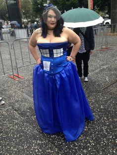 cosplay, plus size, Tardis, Doctor Who, costume, convention, DIY, sewing