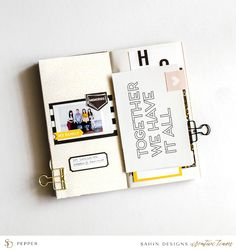 Hybrid Travelers Notebook - Sahin Designs - Scrapbook Inspiration