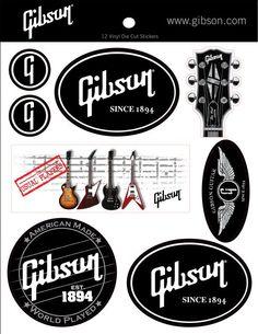GibsonLogo Vinyl Stickers - Set of 12