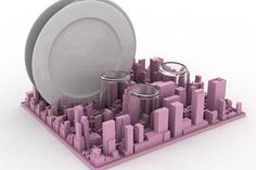 City-scape drying rack. Or mail organizer. Or coffee table conversation piece! Seletti - price unknown