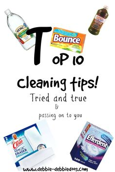 Top 10 cleaning tips that really do work
